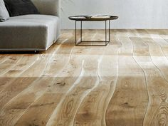 Bolefloor is the world's first industrial-scale manufactured hardwood flooring with naturally curved lengths.