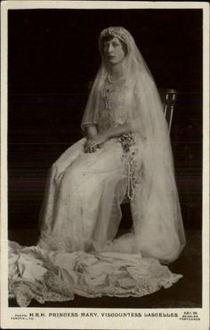 HRH Princess Mary on her wedding day (Viscount Lascelles) Feb. 28,1922