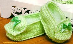 Mocassim de crochet para bebê