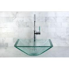@Overstock - square tempered glass sink is well-design for modern bathroom look. The designs quality is a significant investment to last for generations.   http://www.overstock.com/Home-Garden/Square-Tempered-Glass-Vessel-Sink/6664402/product.html?CID=214117 $119.99