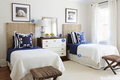 Listen up ... a well designed guest room is essential! 3 Key Elements of a Well-Designed Guest Room  via House Beautiful