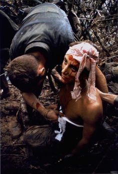 Larry Burrows -- Casualty of the ultimately successful assault on Hill 484, October 1966, The Life Magazine Collection