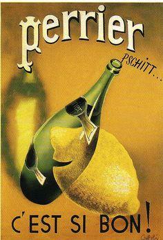 Perrier……reépinglé par Maurie Daboux….ღ. ¸.•*¨