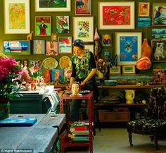 Nathalie Lete in her studio