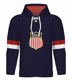NEW 2015 USA Hockey World Cup Hoodie NHL Eichel Moses Bonino Sexton Larkin Kane