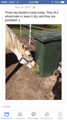 Another neat horse hay feeder Hay Feeder For Horses, Horse Feeder, Horse Shelter, Horse Barn Plans, Horse Care Tips, Horse Stalls, Horse Farms, Horse Love, The Ranch