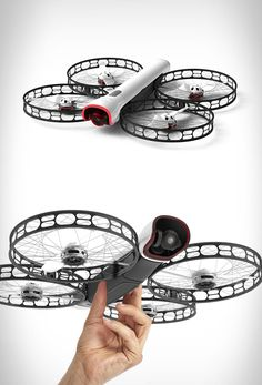 The ultra-portable Snap 4K flying camera drone keeps your hands safe. Thanks to a Sony Exmor IMX377, the drone can easily capture photos at high quality and videos at HD quality, even slo-mo ones at 1080p/120fps or 720p/240fps. You can even program it to hover around or follow you at a distance