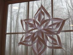 large easy 6 pointed star.  easy Christmas Craft