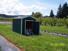 Our Retail Cottage, 8x10 Tuff Shed, delivered, 2005 to it's home, our little piece of Heaven!
