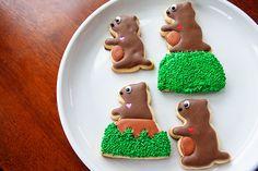Baked Happy Groundhog Day Cookies