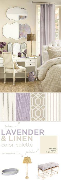 Master bedroom palette
