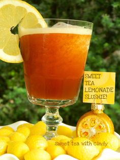 Sweet Tea Lemonade Slushie Recipe, I made my own version when I was younger :)