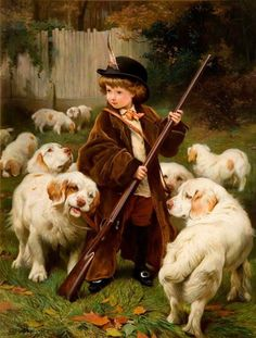 """""""The New Keeper"""" by Charles Burton Barber (1845 – 1894, English)"""