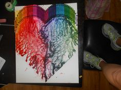 Melted Crayon Art In A Heart I Wanted Different Twist 1 Line