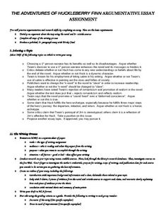 practice the synthesis the huck finn controversy  this assignment requires students to practice research skills and argumentation by selecting a topic related to the novel adventures of huckleberry finn