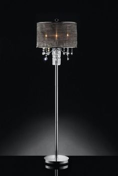 Furniture of America Gina Collection Floor Lamp with Handing Crystals L95127F
