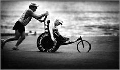 Team Hoyt is a father Dick Hoyt and son Rick Hoyt from Massachusetts who compete together in marathons, triathlons, and other athletic endeavors. .