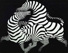 #Black graphic style inspires #AW2012 in this painting by Vasarely