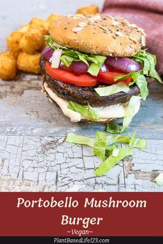 This vegan Portobello Mushroom Burger is so delicious that you will forget it's actually healthy! Paired with vegan garlic aioli and fresh toppings, you will have a family favorite. So simple, you can grill in on the stovetop or outside on the bbq on a nice day.