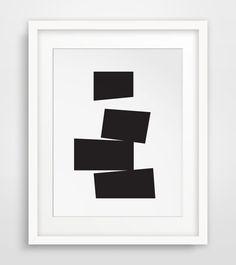 Simple Prints Geometric Art Black and White by MelindaWoodDesigns #modernart #homedecor