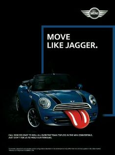 The official Rolling Stones app Mini Countryman, Mini Clubman, Red Mini Cooper, Mini Driver, Mighty Max, Mini Copper, Creative Advertising, Advertising Poster, Moves Like Jagger