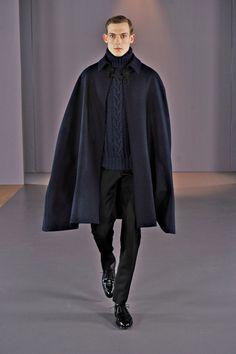 Vampish cape for a good office entrance. Oh yeah.   Gieves & Hawkes | Fall 2014 Menswear Collection | Style.com