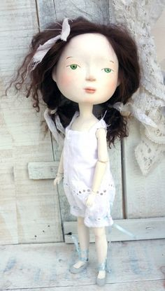 Super Fall Sale Viriginia and Costas the Owl, Original Art dolls, OOAK. $544.00, via Etsy.