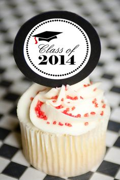Graduation Cupcakes Free Printable, Cupcake Toppers