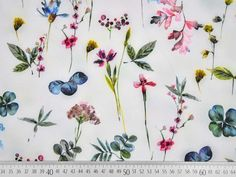 Blusenstoff mit Stretch, Blumen, hellgrau Online Trading, Sewing Patterns, Blouse, Grey