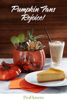 National Pumpkin Cheesecake Day: the ultimate holiday for your pumpkin obsessed pal. Order Flowers, Send Flowers, Fresh Flowers, Cheesecake Day, Pumpkin Cheesecake, Online Flower Delivery, Moscow Mule Mugs, Floral Arrangements, Thankful