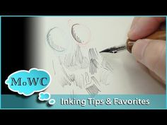 Pen & Ink Tips and Favorites – InkTober Learn Watercolor Painting, Watercolor Video, Pen And Watercolor, Watercolour Tutorials, Watercolour Paintings, Pen And Wash, Sketches Tutorial, Ink In Water, India Ink