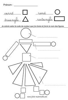Fiche maternelle tri de formes