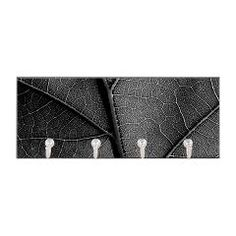 Monotone Leave with detail viens Key Hanger> Black and white leaf veins> Victory Ink Tshirts and Gifts