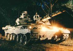 Challenger 2 Main Battle Tank, United Kingdom  Challenger 2 on night exercise.