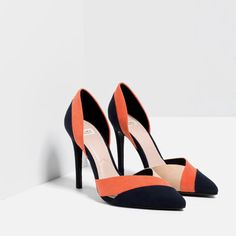 Image 3 of THREE-COLOUR HIGH HEEL SHOES from Zara