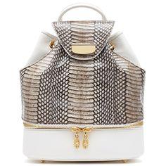 Tyler Alexandra Customizable Handbag (Made to Order) (4,910 CAD) ❤ liked on Polyvore featuring bags, handbags, backpack, natural, bucket bag, doctor bag, satchel purse, satchel backpack and monogrammed backpacks