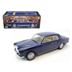 """1968 Rolls Royce Silver Shadow Oxford Blue from Movie """"Thomas Crown Affairs"""" Ltd to 3500pc 1/18 Diecast Model by Paragon Models"""