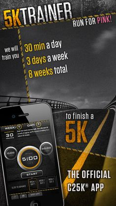 Check out these fitness apps- we love the C25K 5K Trainer! I'm doing this...and love it! The perfect way for a non-runner to start!