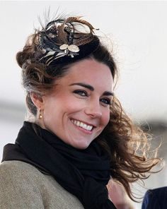 Kate looked striking in this delicate Vivien Sheriff fascinator as she attended an event for Britain's lifeboat service in February last year at Treardurr Bay, near her home with the duke in Anglesea. Sheriff is a traditional British milliner influenced by the English countryside.