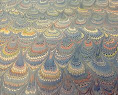 marbleized #paper #peacock by Il Papiro Firenze!