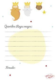 Carta para los Reyes Magos descargable