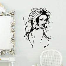 Chica Sexy Hogar Decoración Mural De Pared Vinilo calcomanía Pared Salon mujeres ventana calcomanía
