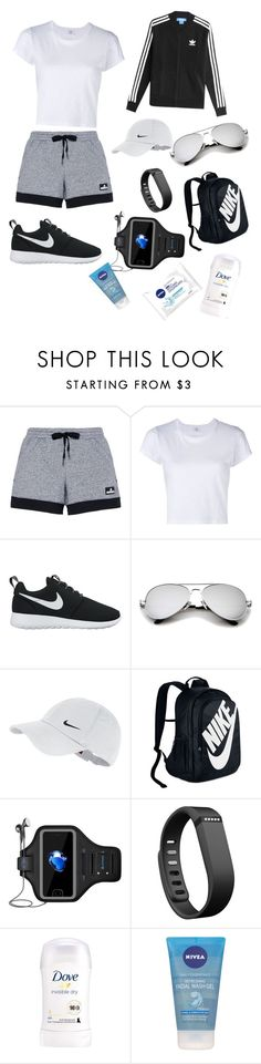 """Untitled #23"" by gabbylara ❤ liked on Polyvore featuring adidas, RE/DONE, NIKE, Fitbit, Nivea and adidas Originals"
