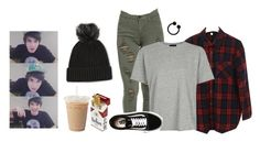 """Christofer Drew❤️❤️"" by thatsxool ❤ liked on Polyvore featuring Topshop and Vans"