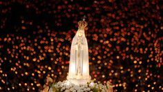 Our Lady of #Fatima candle lit procession at the Marian Shrine in #Portugal