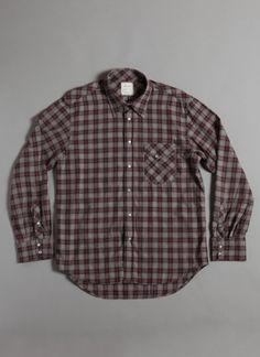 GIlbert Shirt in Grey Red by Billy Reid