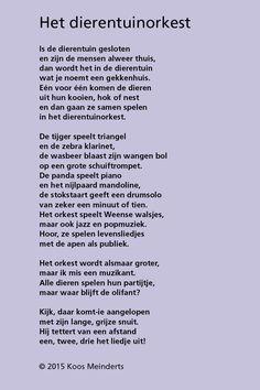 KoosMeinderts_Dierentuinorkest_oplossing Jungle Crafts, Learn Dutch, 21st Century Skills, Close Reading, Yoga For Kids, Verse, Play To Learn, Kids Education, Spelling