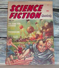 Vintage 50's Sci Fi magazine, via Flickr.