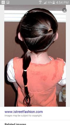 Shaunell's Hair: Little Girl's Hairstyles - How to do a zig zag puffy braid ponytail min. This would be cute on Lella. Little Girl Hairdos, Girls Hairdos, Lil Girl Hairstyles, Smart Hairstyles, Pretty Hairstyles, Braided Hairstyles, Celebrity Hairstyles, Short Curly Hair, Curly Hair Styles