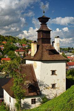 věž Klopačka, Banská Štiavnica, Slovakia